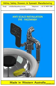 Anti-Scald Valve Eyewash Installation