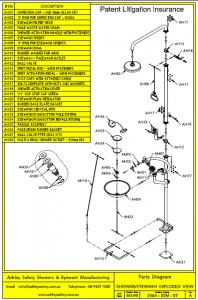 Shower/Eyewash Parts Diagram