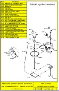 Eyewash Parts Diagram